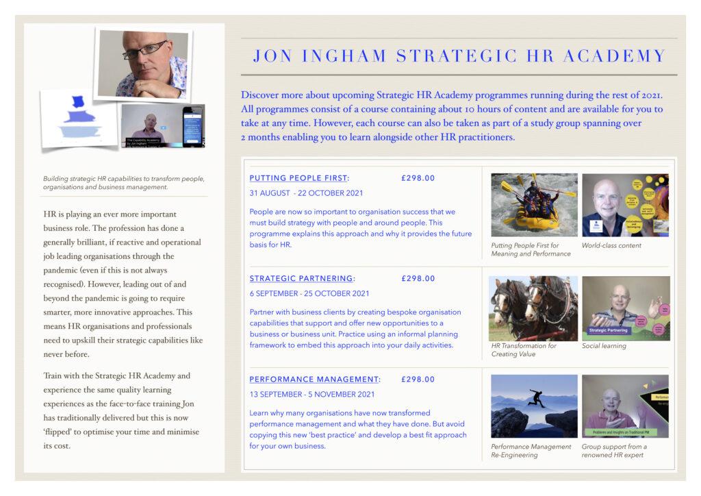 Strategic HR Academy study groups 2021 2022
